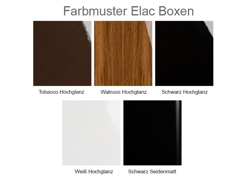 Farbmuster Elac Boxen 400,500 rk1