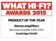 Cambridge CXA60 Award 2015