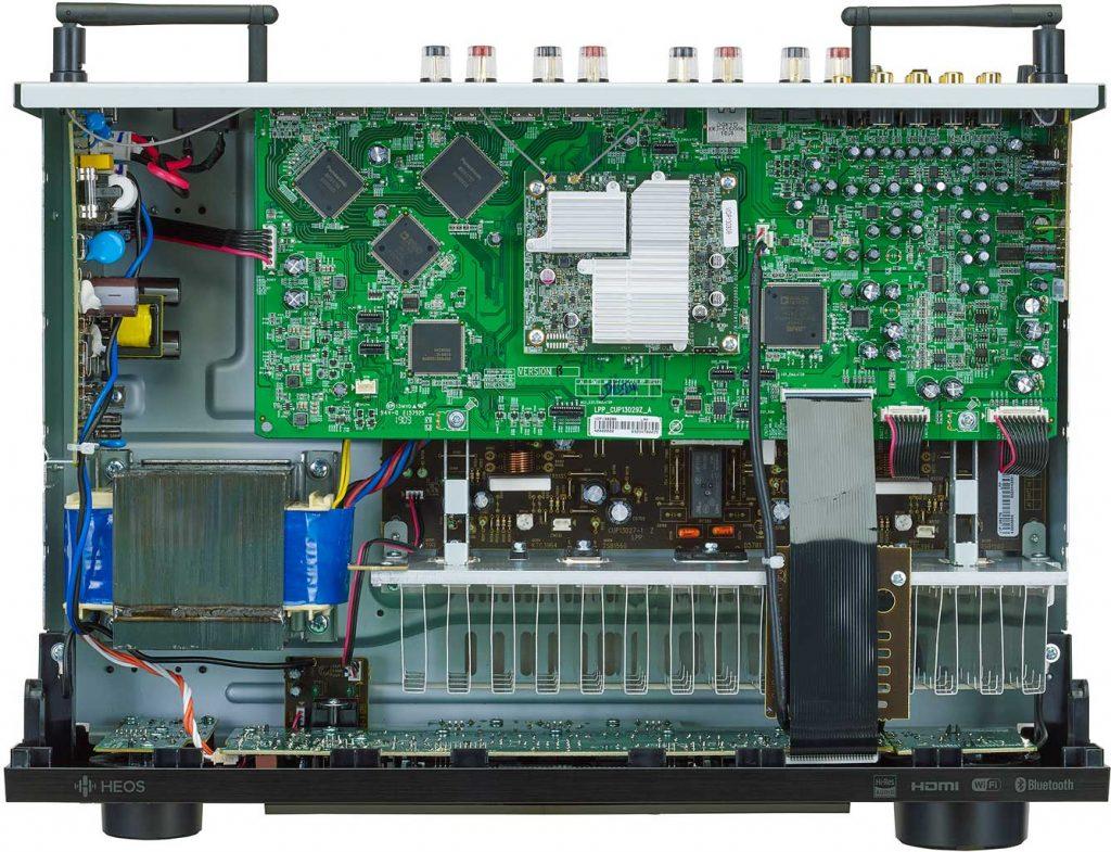 Denon DRA 800H Stereo Receiver Innenansicht