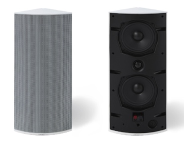 Cornered Audio Ci5 Drei-Ecklautsprecher schwarz und weiß
