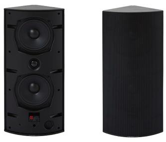 Cornered Audio Ci4 Drei-Ecklautsprecher schwarz und weiß